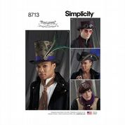8713 Simplicity Pattern: Men's Hats in Three Sizes - 21-22-23""